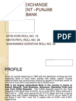 FOREIGN EXCHANGE DEPARTMENT –PUNJAB NATIONAL BANK