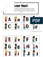 All About Me Letter Match