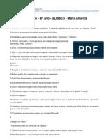 Ficha de Avaliao 6 Ano ULISSES Maria