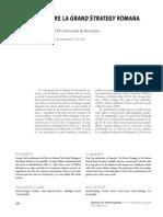 VALDÉS MATÍAS, P., 2011, «El debate sobre la Grand Strategy romana», Revista de Historiografía, nº 14, VIII, pp. 182-193