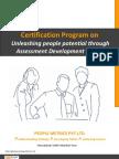 Certification Program on Unleashing People Potential Through Assessment Development Centre