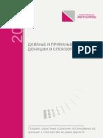Brosura Davanje i Primanje Na Donacii i Sponzorstvo 2010