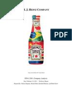 FINA2201 H.J. Heinz Co.paper
