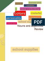 0 Ok Noun Adjective Review 10 School Supplies Com Efeitos