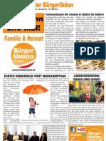 BürgerBlattl - Zeitung der BürgerUnion Februar 2013