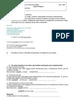 Prep. 2ª ficha de avaliação  Nov 2010 - Cópia