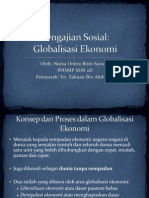 Pengajian Sosial- Globalisasi Ekonomi