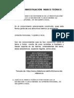 TALLER DE INVESTIGACIÓN  MARCO TEÓRICO FEB 18 2013