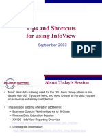 Business Objeccts InfoView Tips and Shortcuts