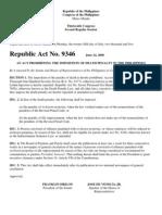 RA 9346, Probation Law, Indeterminate Sentence Law