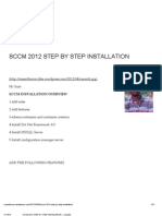 Sccm 2012 Step by Step Installation