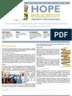 Hope Education Newsletter January 2013
