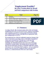 Is Full Employment Feasible? Analysis of the Jobs Creation Rate for Brazil (1997-2011) and brief comparison with Sweden