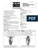 Model G Intermediate Level Sprinklers