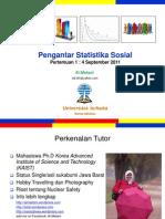 Pengantar Statistik Sosial Modul1