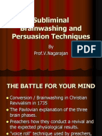 Subliminal Brainwashing and Persuasion Techniques