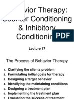 Behavior Therapy - Counter & Inhibitory Conditioning