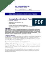 Gas Leak Testing