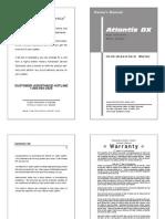 Atlantis Dx Owners Manual