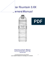 Water Fountain Series 3 Manual