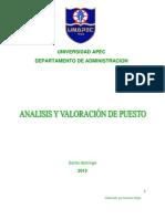 Unidad Didactica II Analisis y Valoracion de Puestos 2012 1