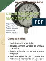 CALIBRACIÓN DE MANÓMETROS