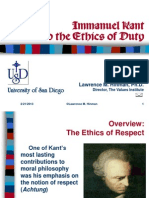 Module 2. LU 4 Kant and Respect