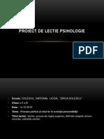 Proiect lectie psihologie