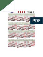 Calendario 2009 TURNO-1x