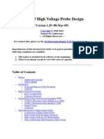 Basics of High Voltage Probe Design