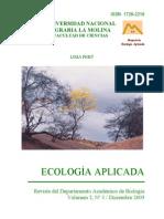 Ecología Aplicada. Vol. 2