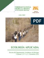 Ecología Aplicada. Vol. 3