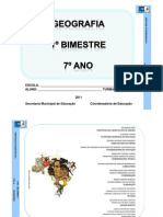 Geografia 7º ano 2011-1