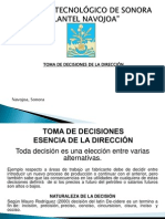 Toma de Decisiones de La Direccion