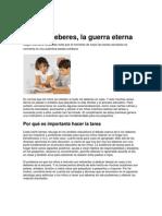 Niños y deberes