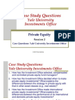 Session 2 Case Study Questions - Yale University Investments Office
