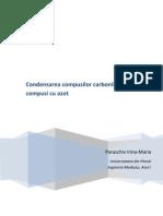 Condensarea Compusilor Carbonilici Cu Compusi Cu Azot
