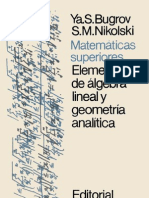 Matematicas Superiores y Elementos de Algebra Lineal y Geometria Analitica (Editorial MIR 1984)(172s)[Bugrov Nikolskii]