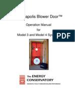 Minneapolis Blower Door Manual