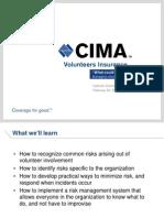 February 22 2013 Webinar on Managing Volunteer Risks