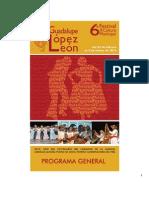 Programa General del Festival de Cultura Municipal Guadalupe López León 2013