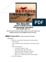 Holy Stir Lesson Outline