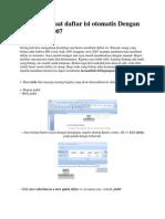 Cara Membuat Daftar Isi Otomatis Dengan MS Word