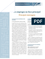 RELATÓRIO DESENVOLVIMENTO MUNDIAL (PRINCIPAIS MENSAGENS) [BANCO MUNDIAL - 2013]