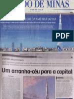 Jornal Estado de Minas (Capa) - Em BH, o maior prédio da américa latina