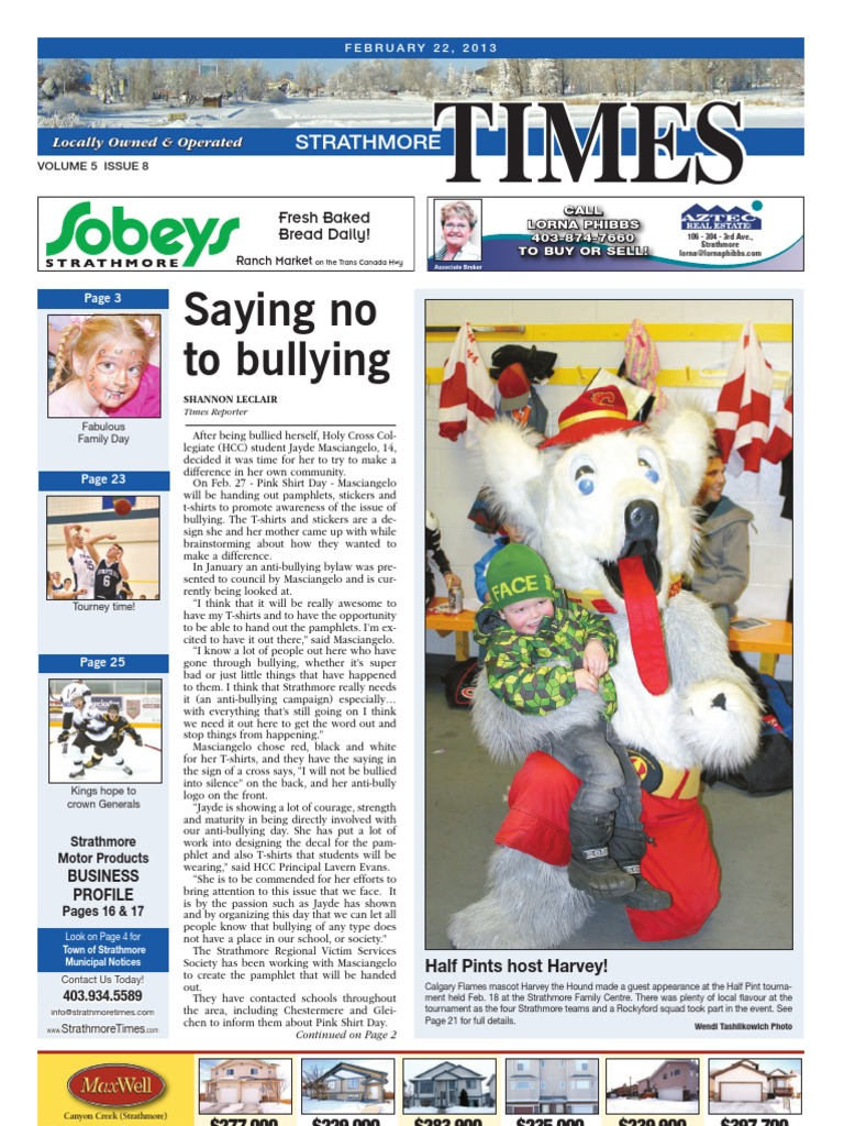 February 22, 2013 Strathmore Times, Volume 5, Issue 8, Locally Owned