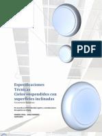 Especificaciones Técnicas Cielos con superficies inclinadas 2