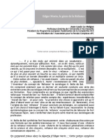 Artículo. Morin y la 'reliance' (2008)