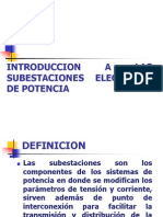 Introduccion a Los Subestaciones Electricas de Potencia