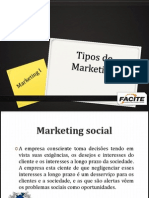 Tipos de Marketing 30 de Set